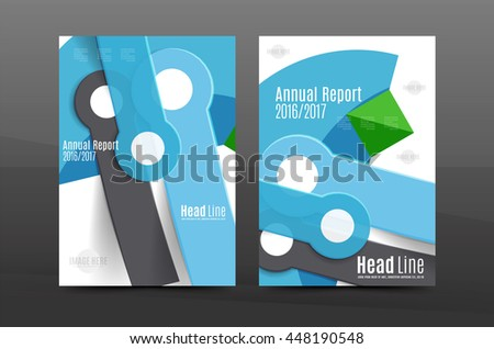 Annual Report Cover Geometric Abstract Background Stock Vector