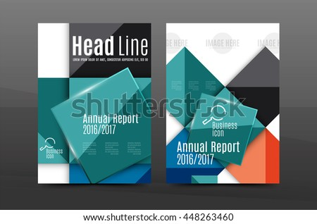 Geometric Design A4 Size Cover Print Stock Vector 454758814