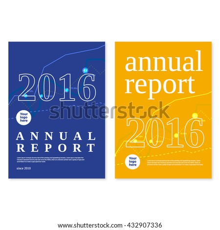 annual report cover template design ベクター画像素材 432907336