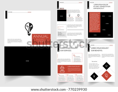 Annual Report Design Template Four Page Stock Vector 770239930 ...