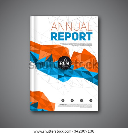 Annual report flyer, Cover report geometric shapes design background, vector illustration - stock vector