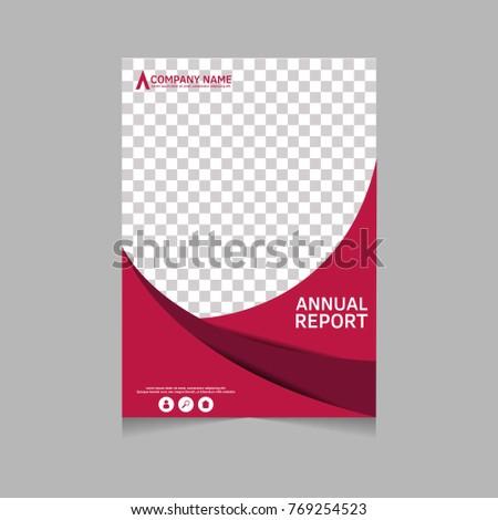 annual report flyer presentation brochure front stock vector 769254523 shutterstock. Black Bedroom Furniture Sets. Home Design Ideas
