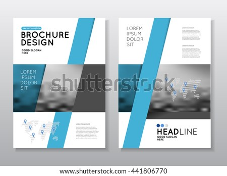 annual report multipurpose template with cover back pages trendy minimalist flat geometric design