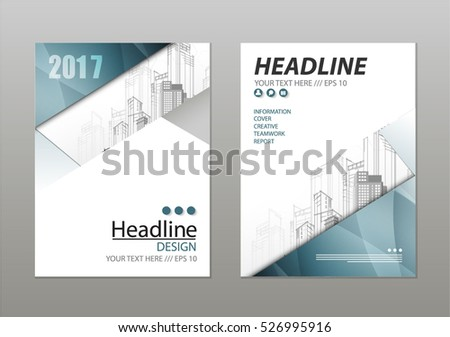 Annual Report Template Design Book Cover Stock Vector 526995916