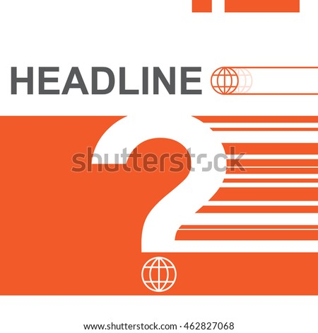annual report template design, question mark symbol vector illustration