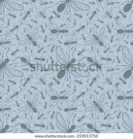 Ant background - stock vector