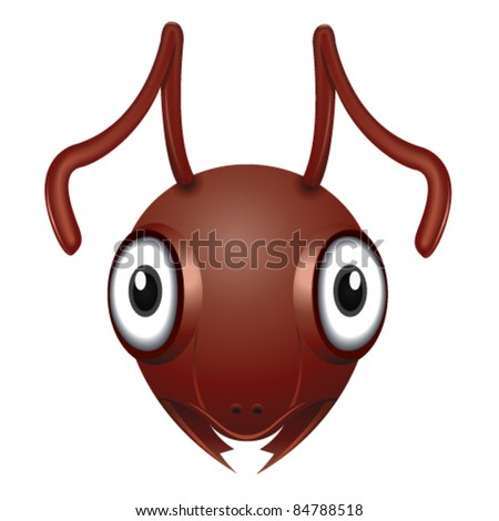 Ant Head - Vector Illustration - stock vector