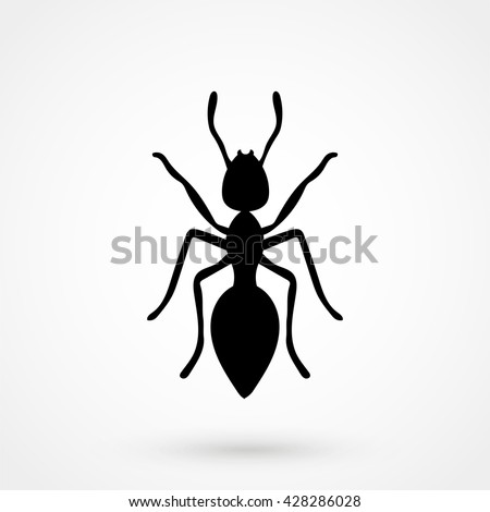Ant Icon isolated on background. Modern flat pictogram, business, marketing, internet concept. Trendy Simple vector symbol for web site design or button to mobile app. Logo illustration