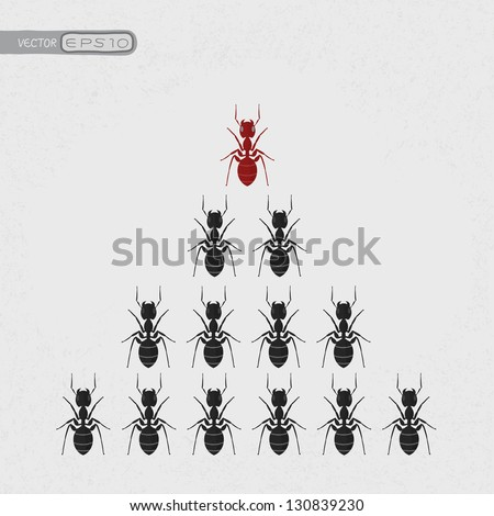 Ant leader , eps10 vector format - stock vector