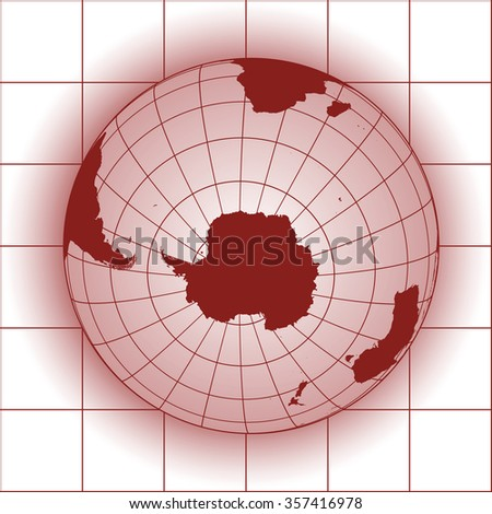 Antarctica and South Pole map. Antarctica, Australia, America, Africa. Earth globe. World map. Elements of this image furnished by NASA - stock vector