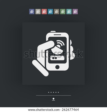 Antenna smartphone icon - stock vector
