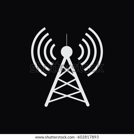 antennavector icon radio tower stock vector 602817893 - shutterstock