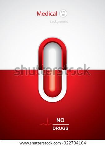 Anti drug medical background.Vector - stock vector