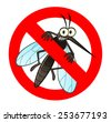 anti mosquito sign with a funny ...