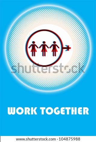 anti-sexism concept illustration - stock vector