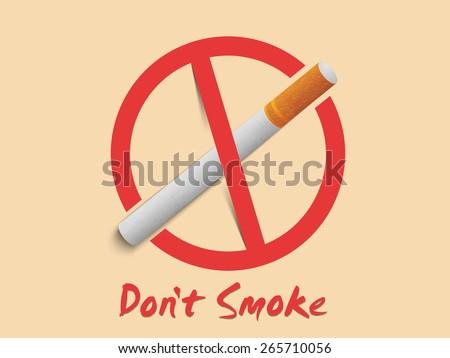 Anti Smoking Sign Symbol Text Dont Stock Vector 265710056 Shutterstock