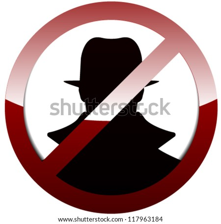Anti Spy, Hacker - stock vector
