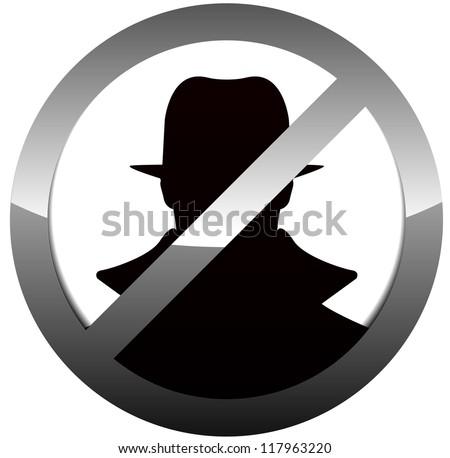 Anti Spy, Hacker Sign - stock vector