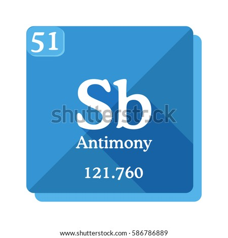 Antimony sb element periodic table flat stock vector 586786889 antimony sb element of the periodic table flat icon with long shadow urtaz Image collections