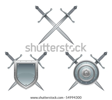 antique arms - stock vector