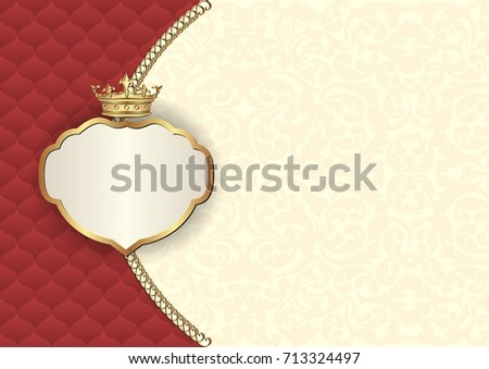antique background with royal frame