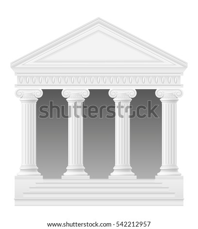 antique building stock vector illustration isolated on white background