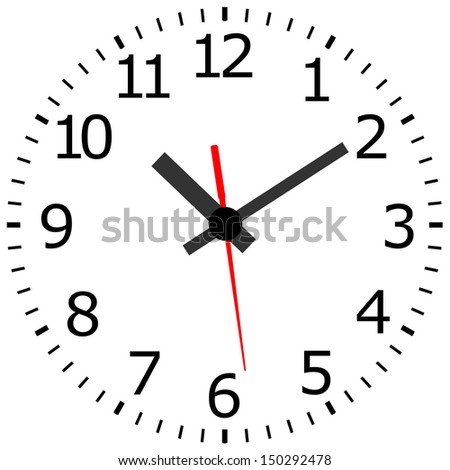 Antique clock - stock vector