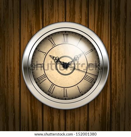 Antique clock - stock vector