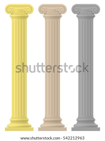antique column stock vector illustration isolated on white background