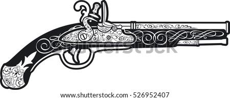pistol stock photos royalty free images vectors shutterstock. Black Bedroom Furniture Sets. Home Design Ideas