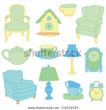 Antique Furniture Vector Art