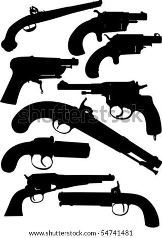 Antique Guns - stock vector