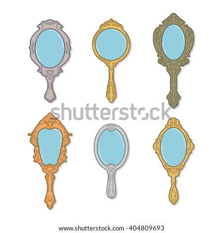 Hand Mirror Imágenes pagas y sin cargo, y vectores en ... Vintage Hand Mirror Clipart