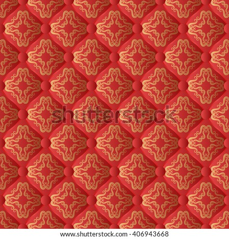 antique pattern seamless  - stock vector