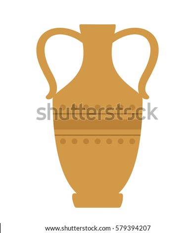 Antique pottery vector illustration.