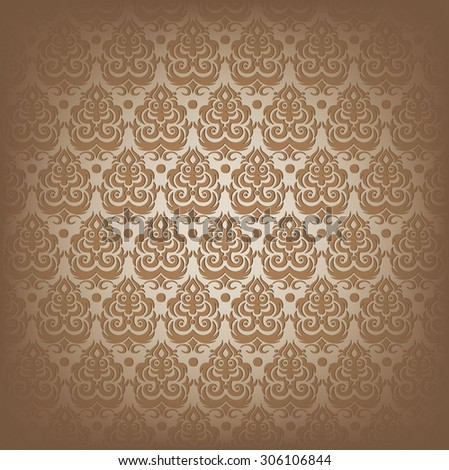 Antique seamless vector pattern. - stock vector