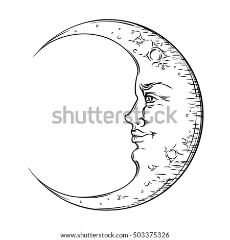 how to draw crescent moon with compass
