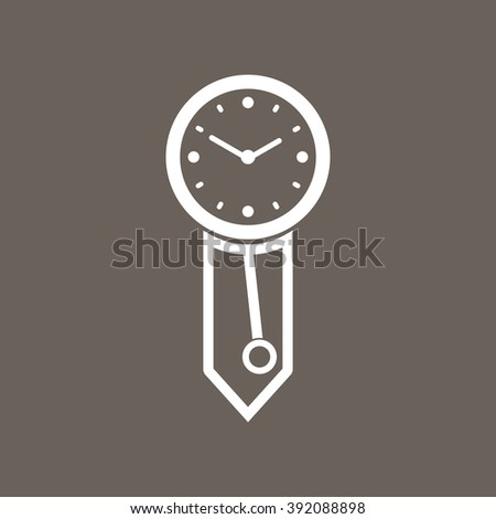 antique gray color purple icon antique wall clock eps10 stock vector 456519658