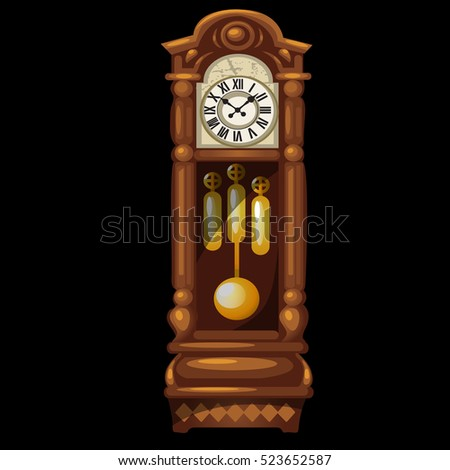 Wall Hanging Grandfather Clock pendulum clock stock images, royalty-free images & vectors