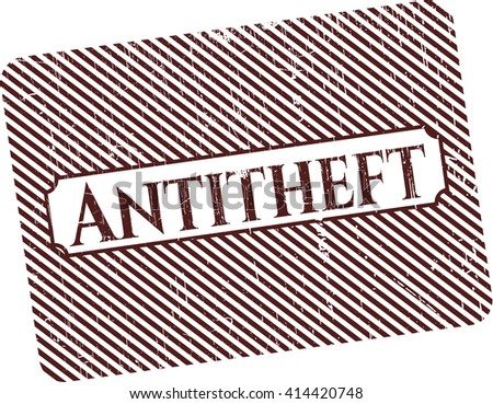 Antitheft rubber texture