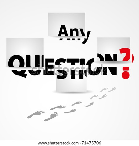 Any questions  vector illustration