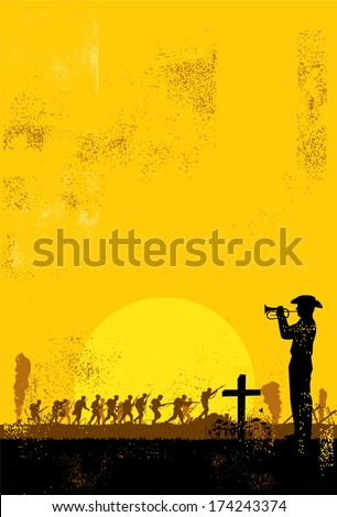Anzac day background - stock vector