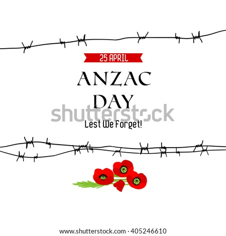 Anzac day background for design banner,ticket, leaflet and so on.Template page. - stock vector