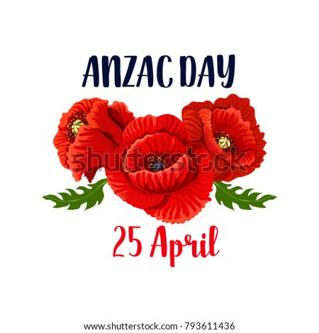 Anzac day red poppy flowers icon stock vector 793611436 shutterstock anzac day red poppy flowers icon design for 25 april australian and new zealand remembrance anniversary mightylinksfo