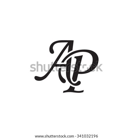 ap initial monogram logo stock vector 341032196 shutterstock. Black Bedroom Furniture Sets. Home Design Ideas