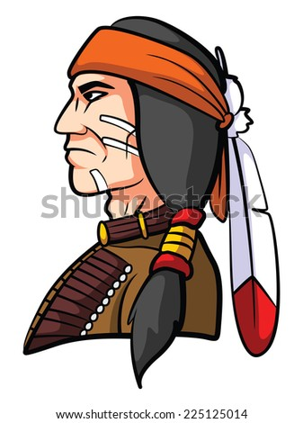 Apache Mascot - stock vector