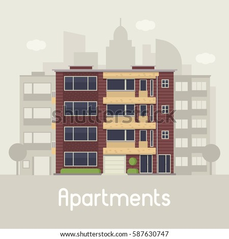Apartment Building Front building front stock images, royalty-free images & vectors
