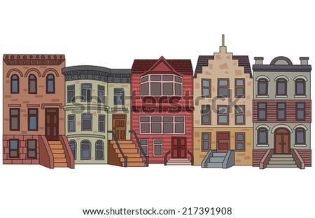 Apartment Building Brick Apartment Building Illustration