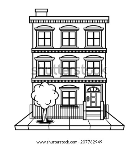 black and white apartment building clip art. Apartment building vector Building Vector Stock 207762949  Shutterstock