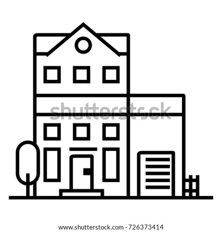 apartment real estate icon suitable info stock vector 361682105